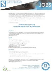 Servicetechniker (m/w/d)  im Bereich Medizin- und Labortechnologie gesucht