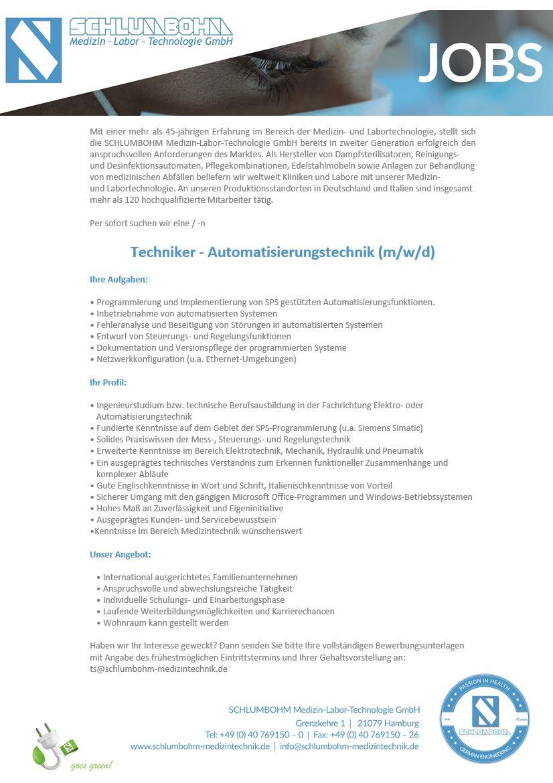 Techniker - Automatisierungstechnik (m/w/d)