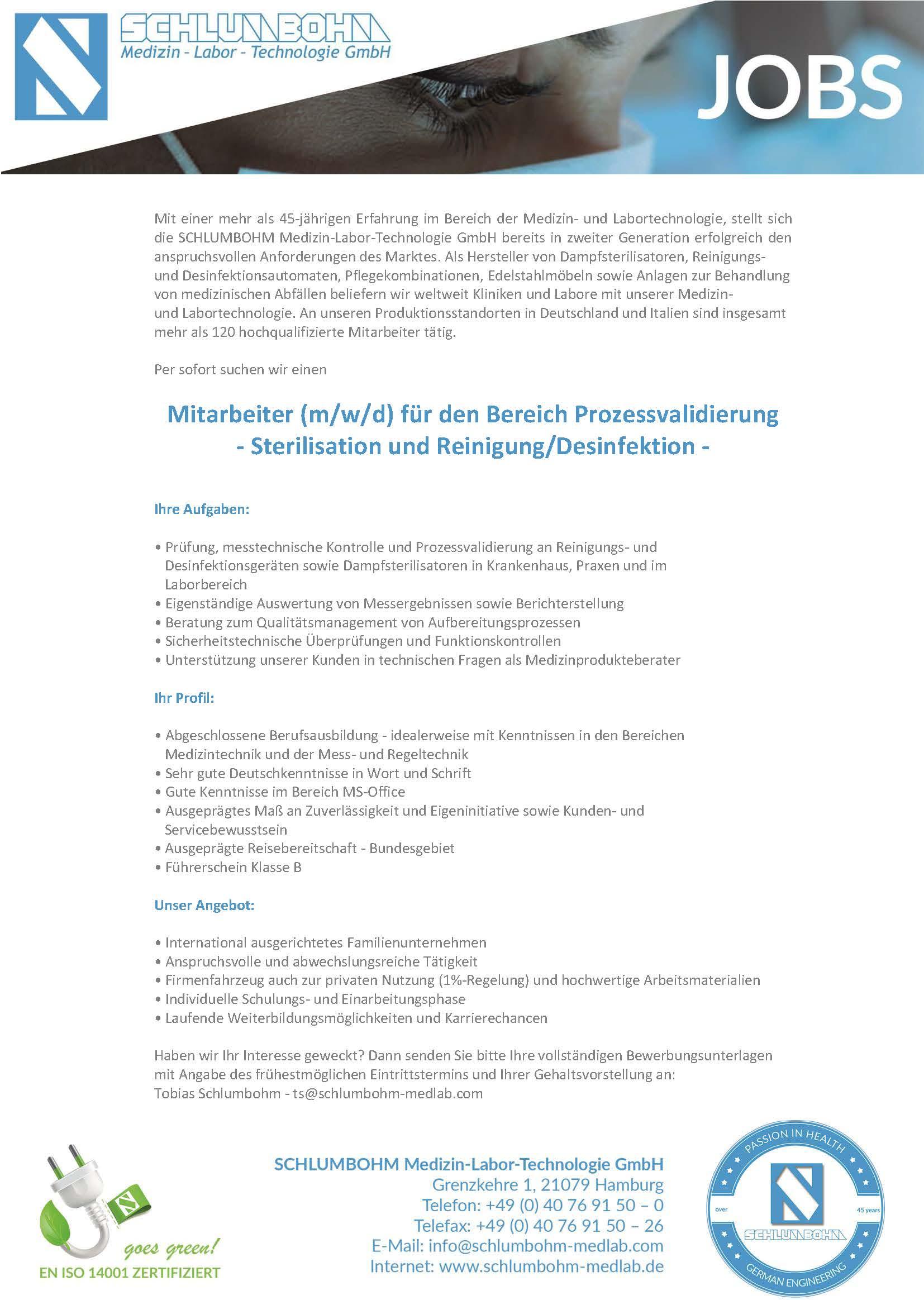 SCHLUMBOHM Stellenanzeige Validierung - 080721